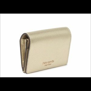 "NWT KATE SPADE"" NY mini key ring wallet, gold"